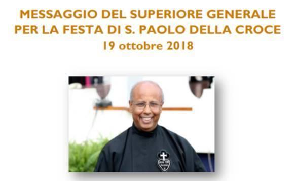 Messaggio del Superiore Generale per la Festa di  San Paolo della Croce