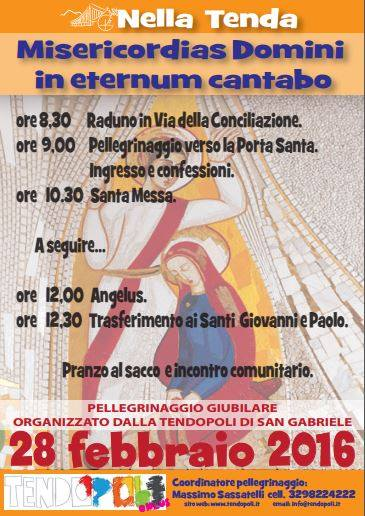 28/02 Roma: la Tendopoli organizza il pellegrinaggio giubilare