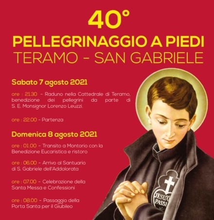 40esimo Pellegrinaggio a piedi Teramo – San Gabriele